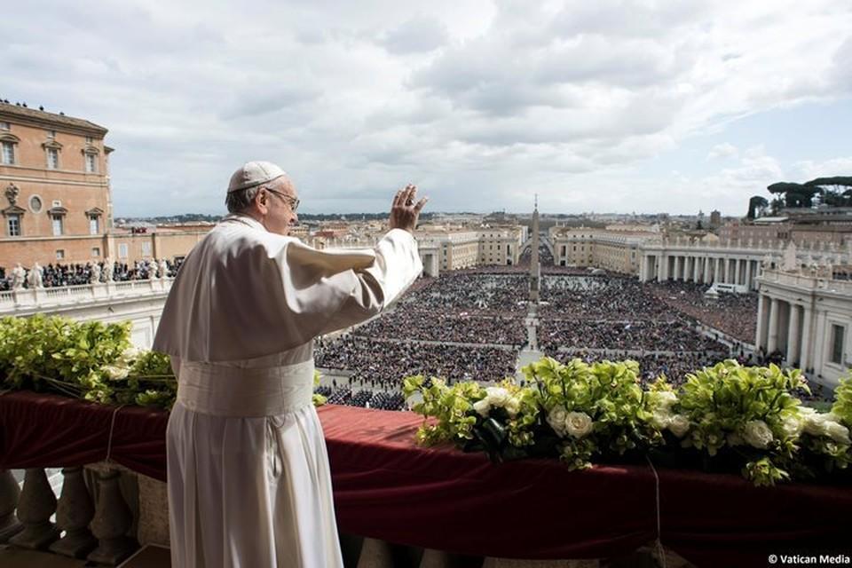 Папа Римский Франциск выступил с традиционным пасхальным обращением