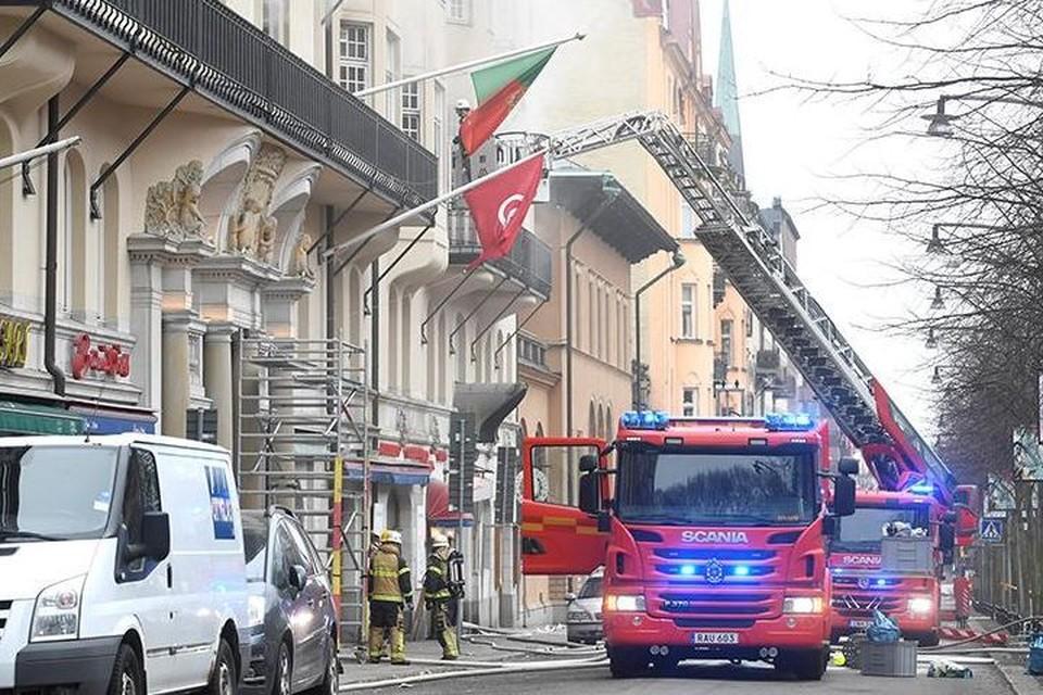 В здании посольства Португалии в Стокгольме произошел пожар: пострадали 14 человек