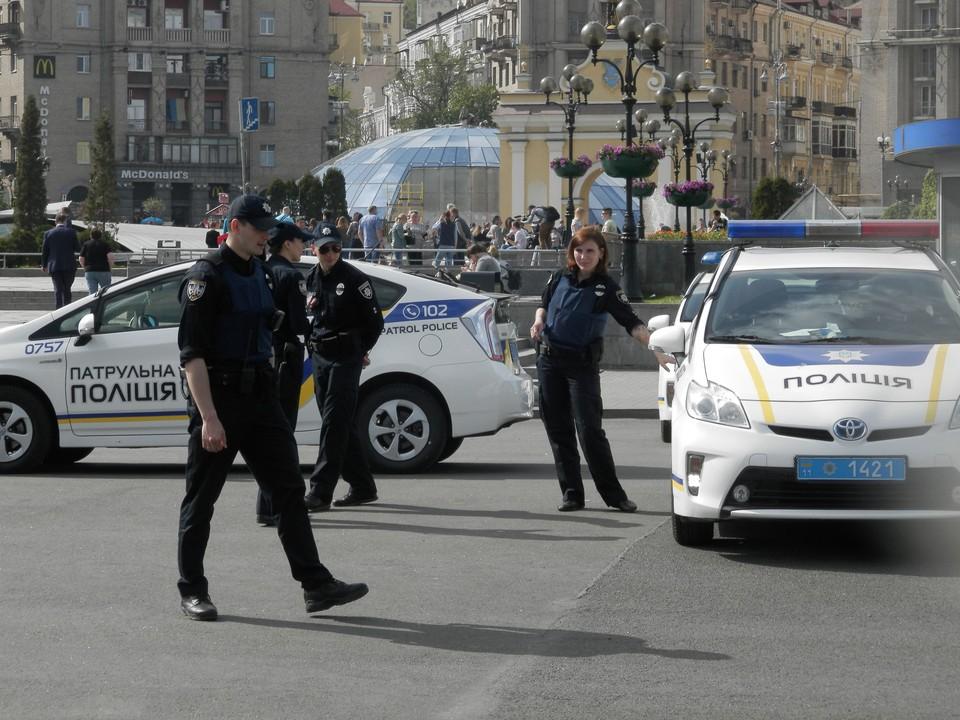 На месте инцидента работают полицейские