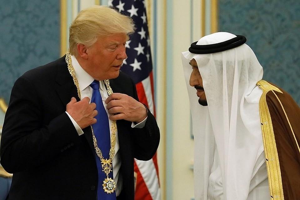 Президент США Дональд Трамп и король Саудовской Аравии Салман бен Абдель Азиз Аль Сауд