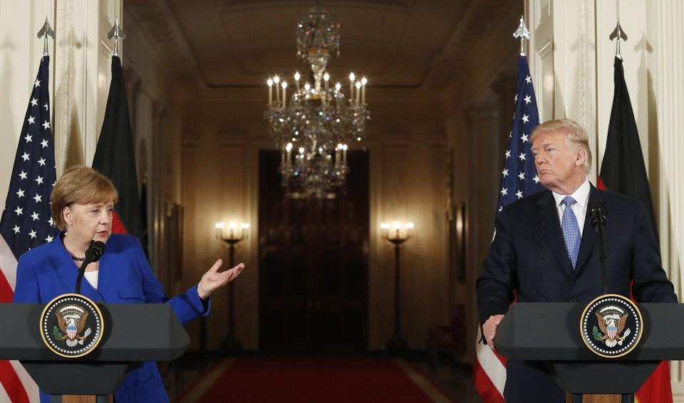 Меркель прибыла в Вашингтон с рабочим визитом