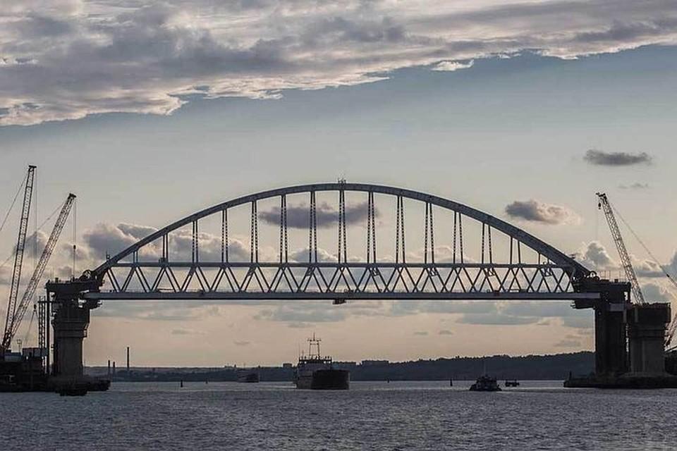 """Украинские депутаты считают, что Россия должна отдать Крымский мост международному консорциуму. Фото: Инфоцентр """"Крымский мост"""""""