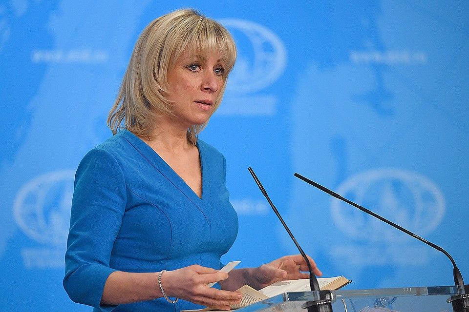 Официальный представитель МИД России Мария Захарова во время брифинга по текущим вопросам внешней политики.