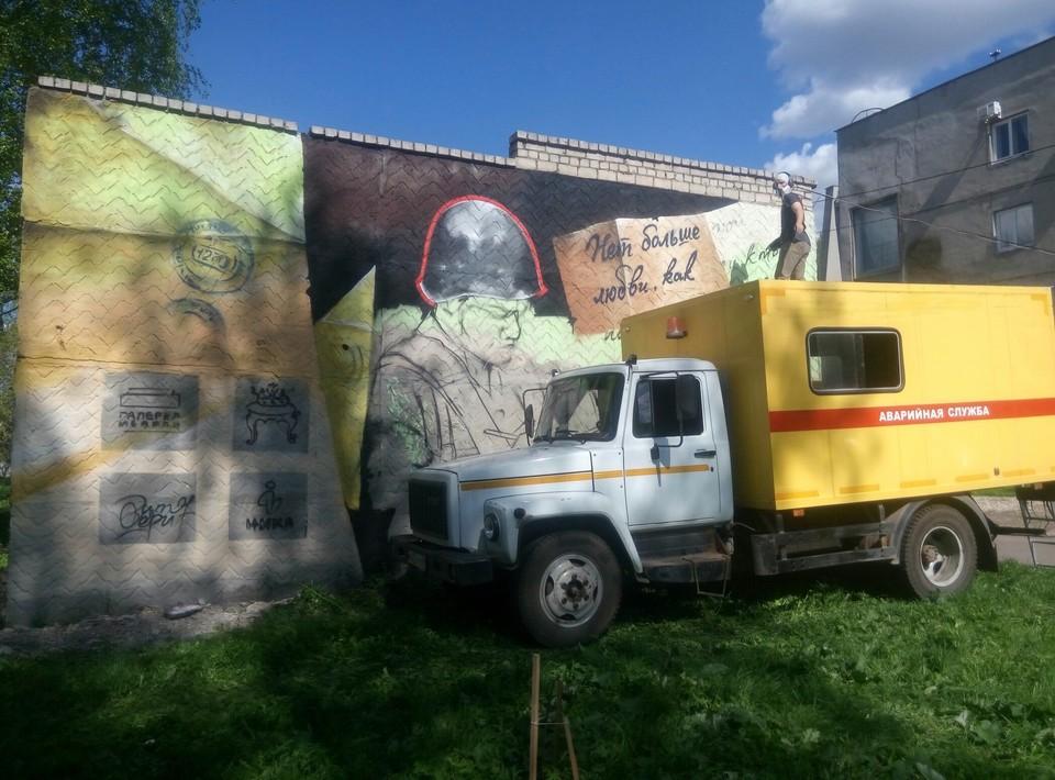 Новое граффити появится на теплоузле возле театра Кукол. Фото: Виктор Лебедев