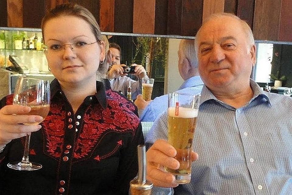 Сергей Скрипаль с дочерью Юлией