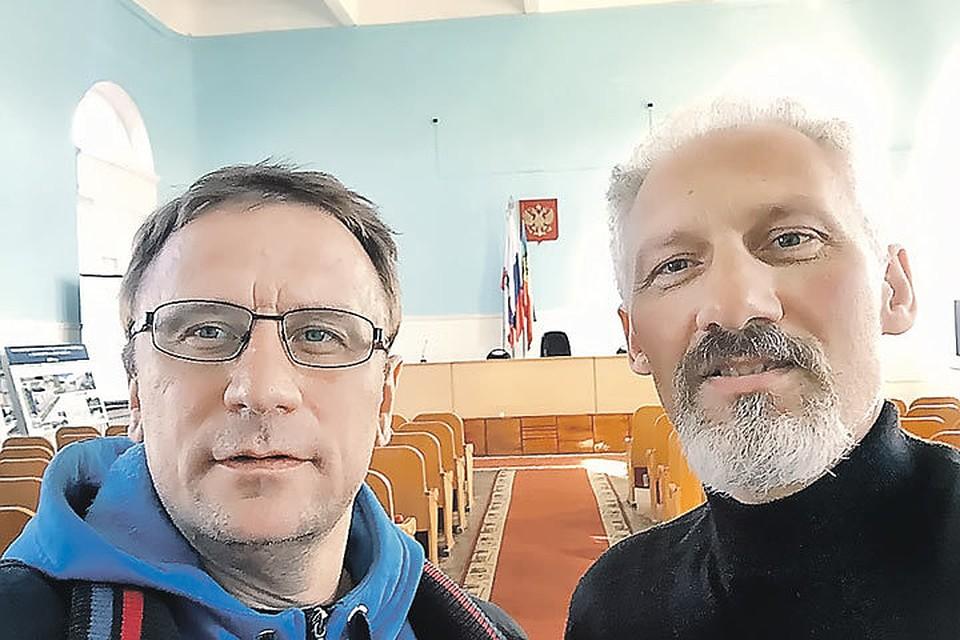 Я и мой новый начальник - редактор «Балашовской правды» Андрей Максудов. Фото: Личный архив Владимира Ворсобина