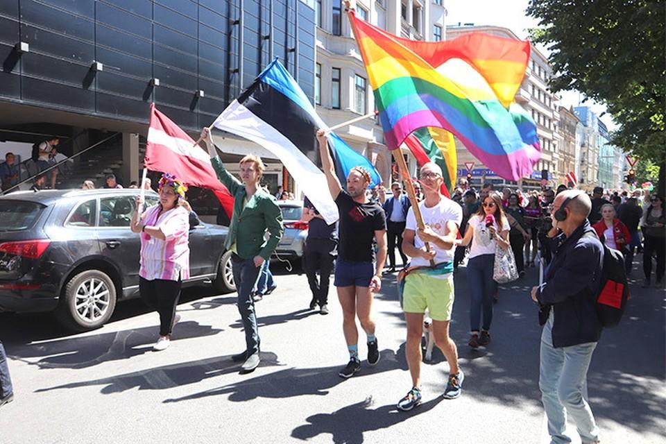 На «Балтийский прайд» съехались участники со всей Европы, но местное население встретило мероприятие без особого энтузиазма. Фото: с сайта gorod.lv