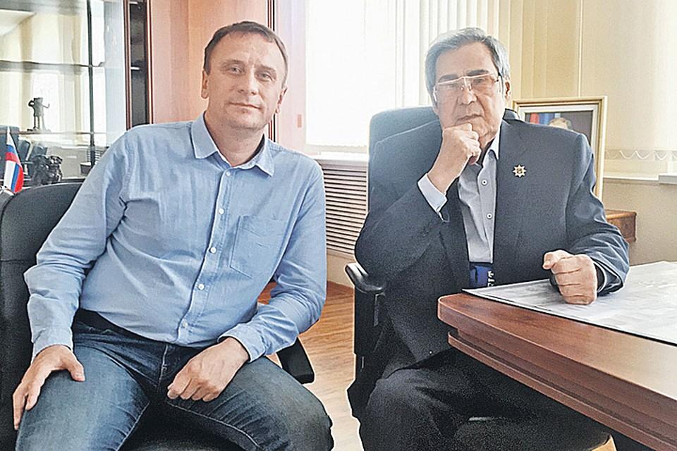 Наш журналист Ворсобин пришел к Тулееву за ответами на неудобные вопросы. Фото: Личный архив Владимира Ворсобина