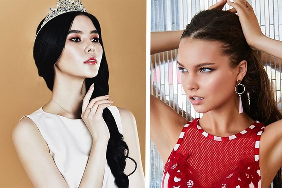 Наталья Строева из Якутии и Юлия Полячихина, действующая «Мисс Россия»