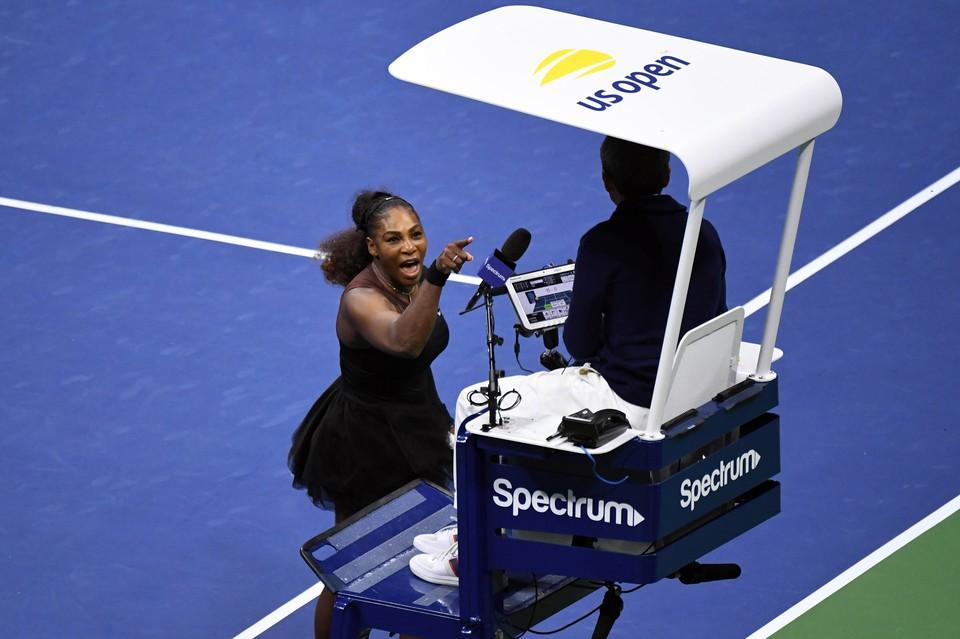 Серену Уильямс захватили эмоции в финале US Open.