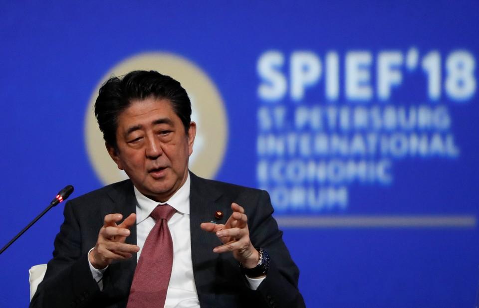 Японский премьер-министр Синдзо Абэ