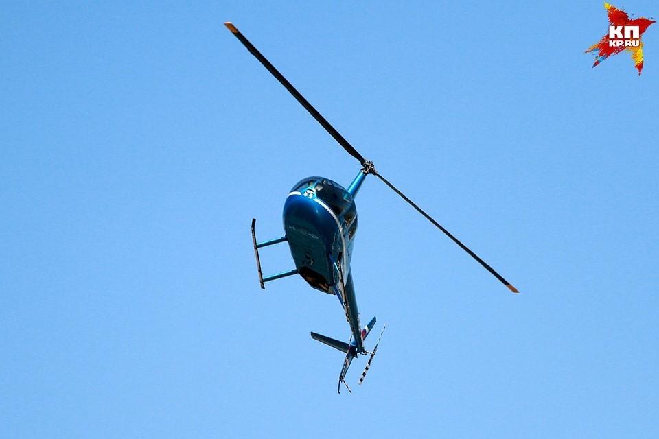 В Костромской области упал вертолет