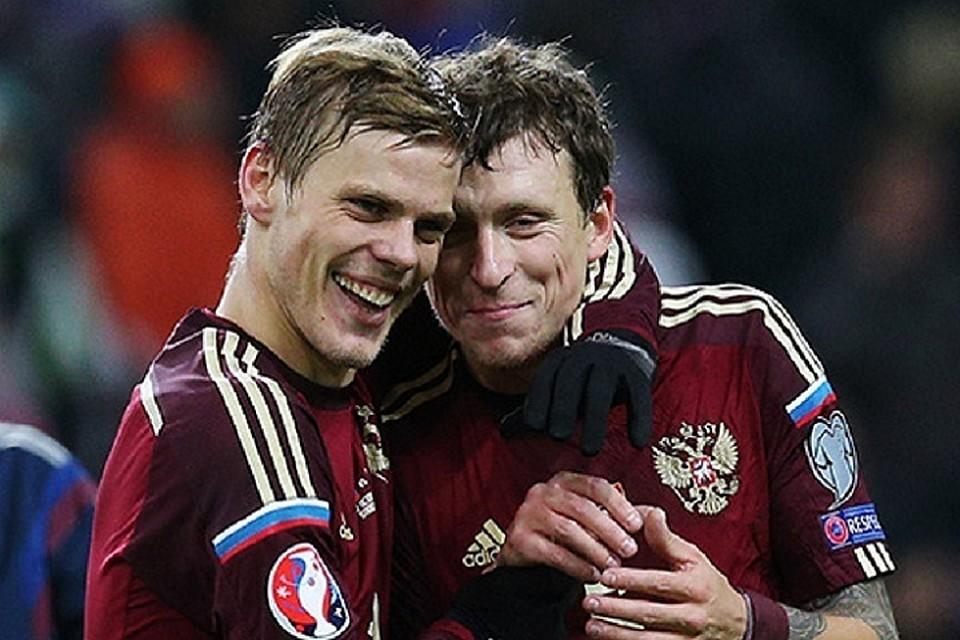Футболисты Александр Кокорин и Павел Мамаев. Фото: Станислав Красильников/ТАСС