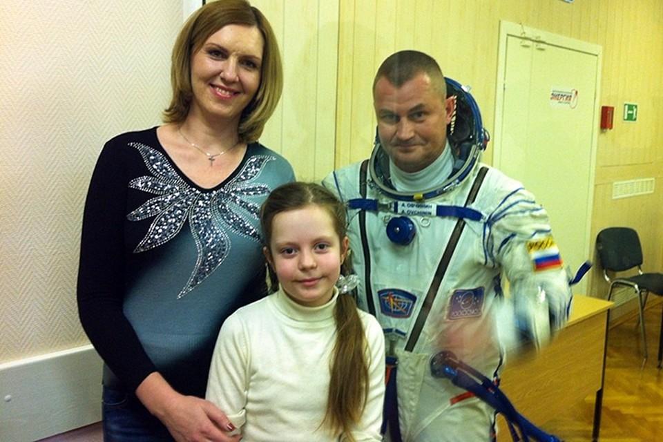 Светлана Овчинина и Алексей Овчинин с дочкой