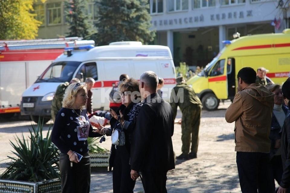 Взрыв в Керченском колледже. Фото: kerch.fm