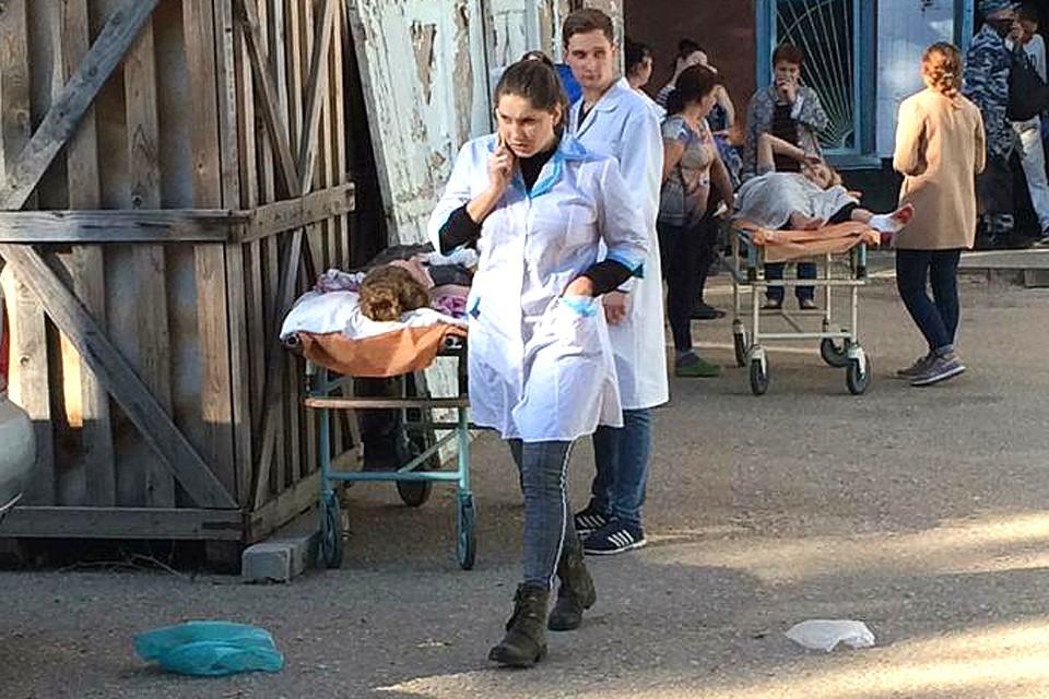 В больницах Керчи не хватает места для пострадавших. ФОТО предоставлено очевидцем