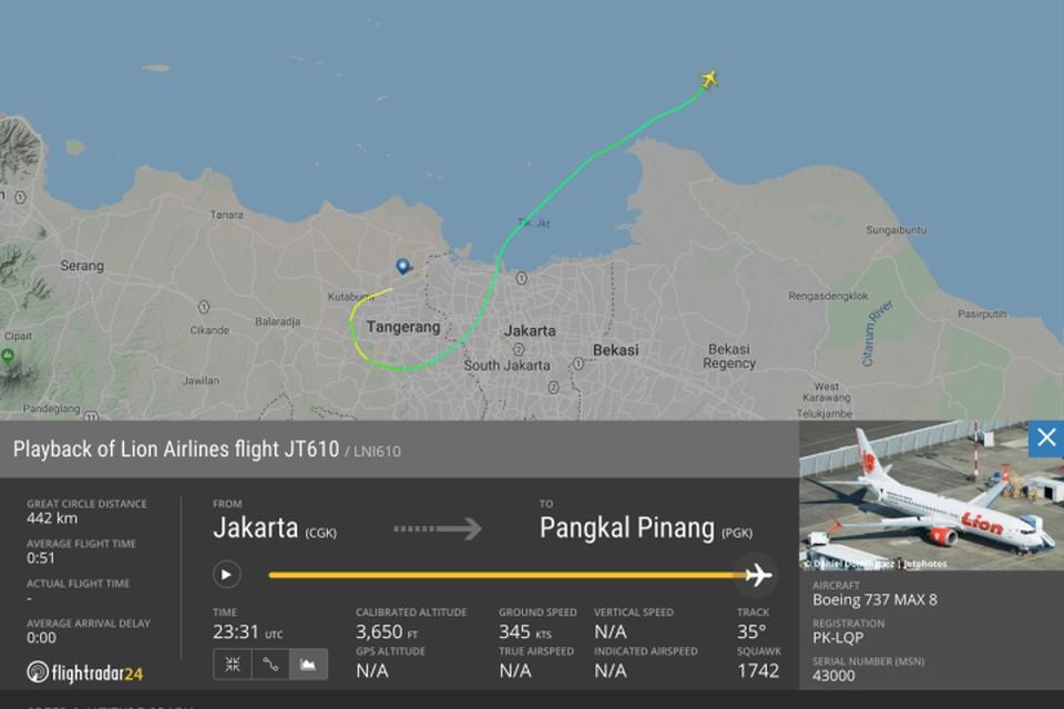 Пассажирский самолёт авиакомпании Lion Air пропал с радаров над Яванским морем