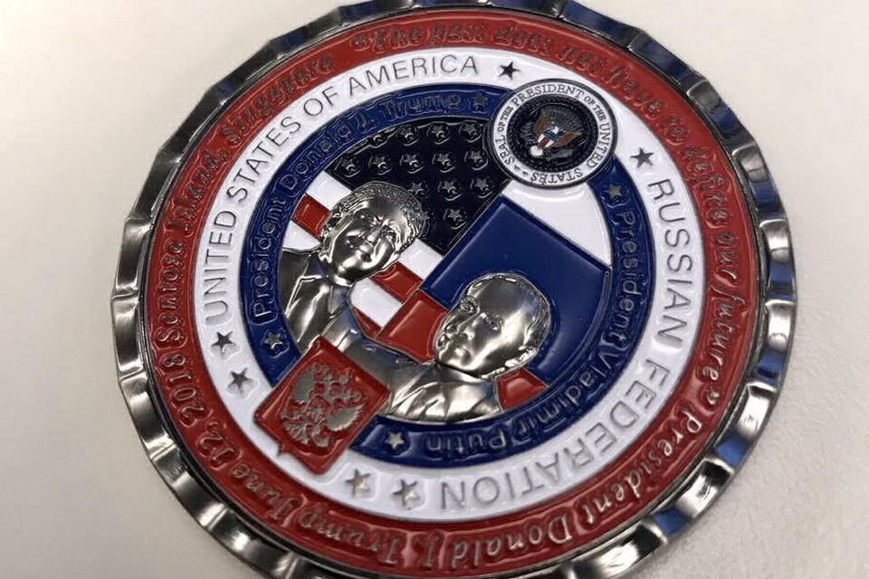 На монету нанесли надписи на русском языке с ошибками Фото: twitter alinaselyukh