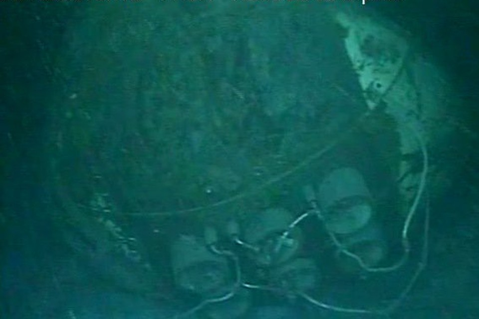 а фотографиях видна разрушенная часть корпуса подлодки. Фото: ВМС Аргентины