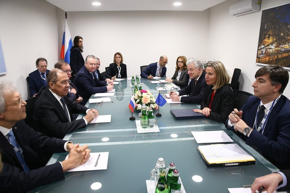 Лавров встретился с Могерини в Милане Фото: МИД России