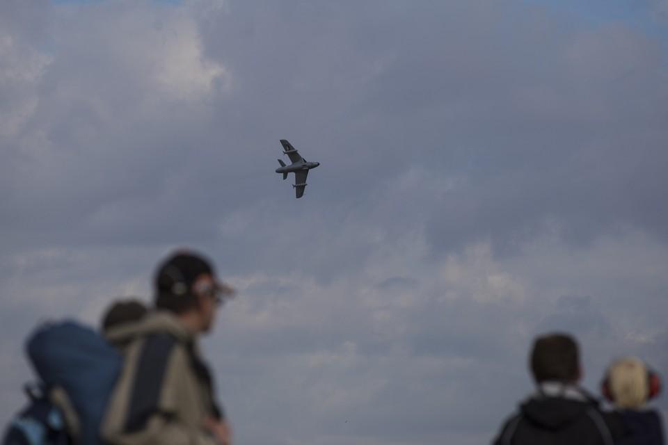 Крушение потерпел самолет Hawker Hunter