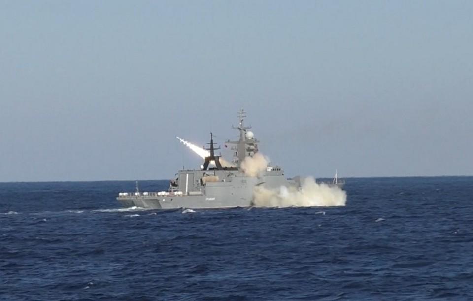 Корвет «Громкий» на испытаниях в Японском море. Фото: ТОФ