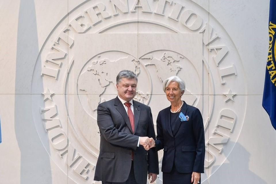 Президент Украины Петр Порошенко и директор Международного валютного фонда Кристин Лагард