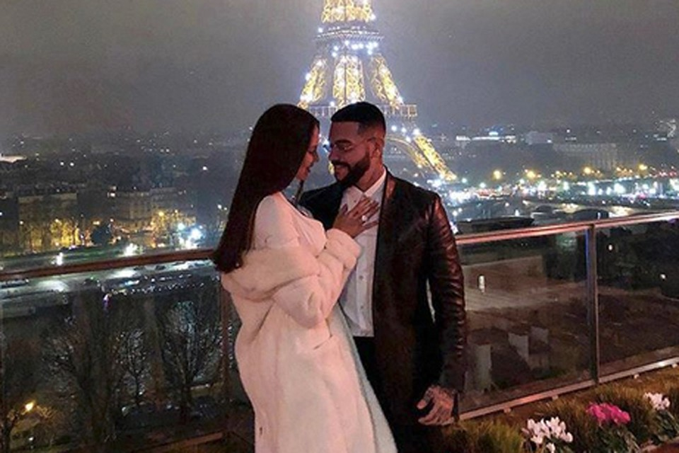 Тимати и модель Настя Решетова на днях похвастались фотографией на фоне ночного Парижа