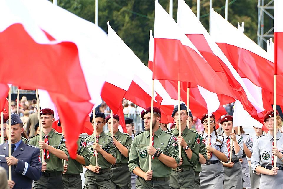 Август 2018 года, во время парада в честь 100-летия независимости в Варшаве.