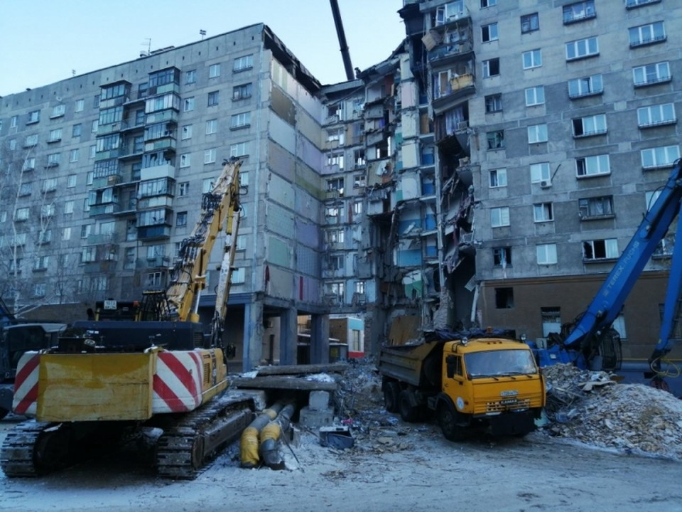 Чтобы расселить печально известный дом в Магнитогорске нужно около года. Фото: МЧС РФ