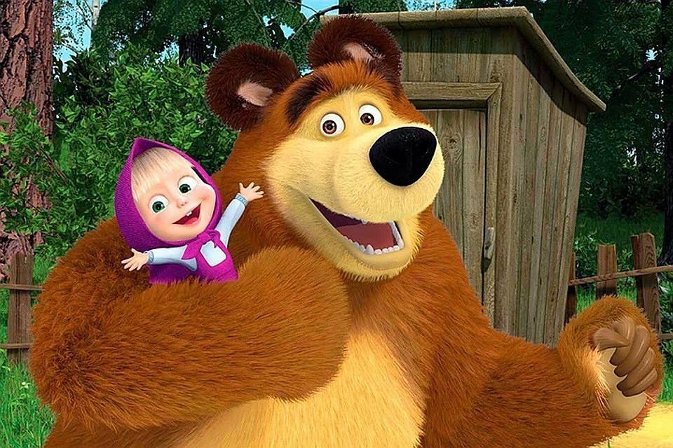 """Мультфильм """"Маша и медведь"""" вошел в книгу рекордов Гиннесса Фото:кадр из мультсериала «Маша и Медведь»"""