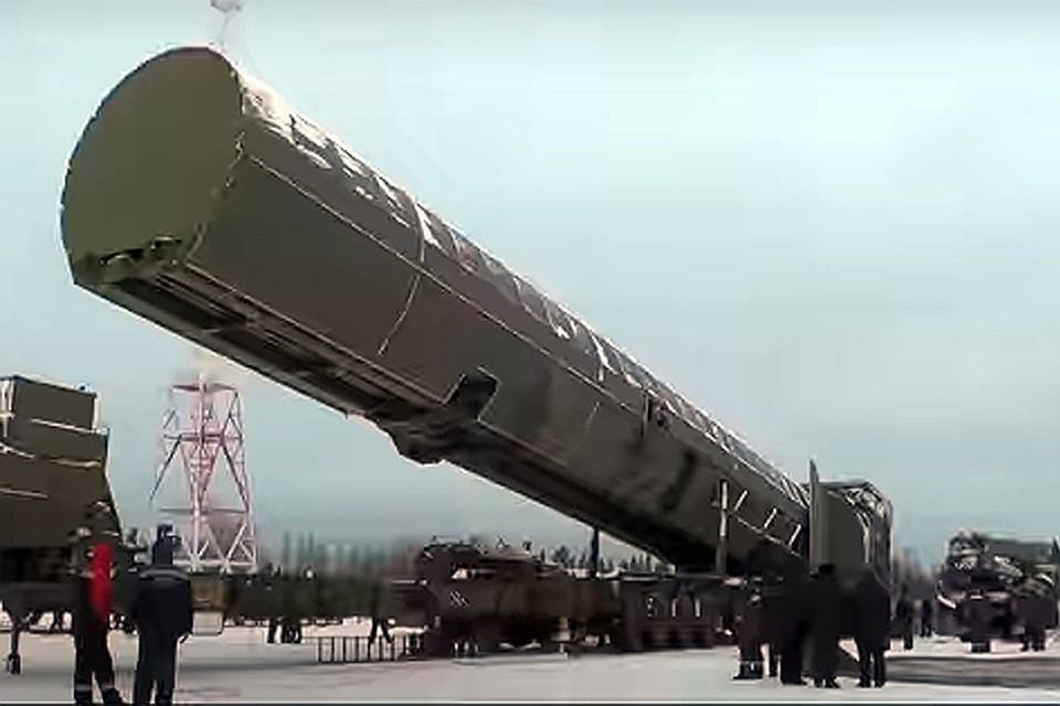 """Ракета РС-28 """"Сармат"""". Фото: скриншот видео"""