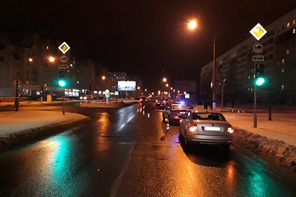 В Полоцке мужчина переходил дорогу вне перехода, его насмерть сбила машина. Фото: ГАИ.