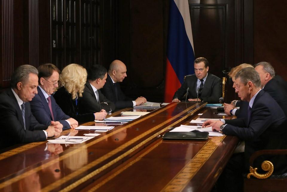 Совещание премьер-министра РФ Д.Медведева с вице-премьерами. Фото: ЕКатерина Штукина/ТАСС