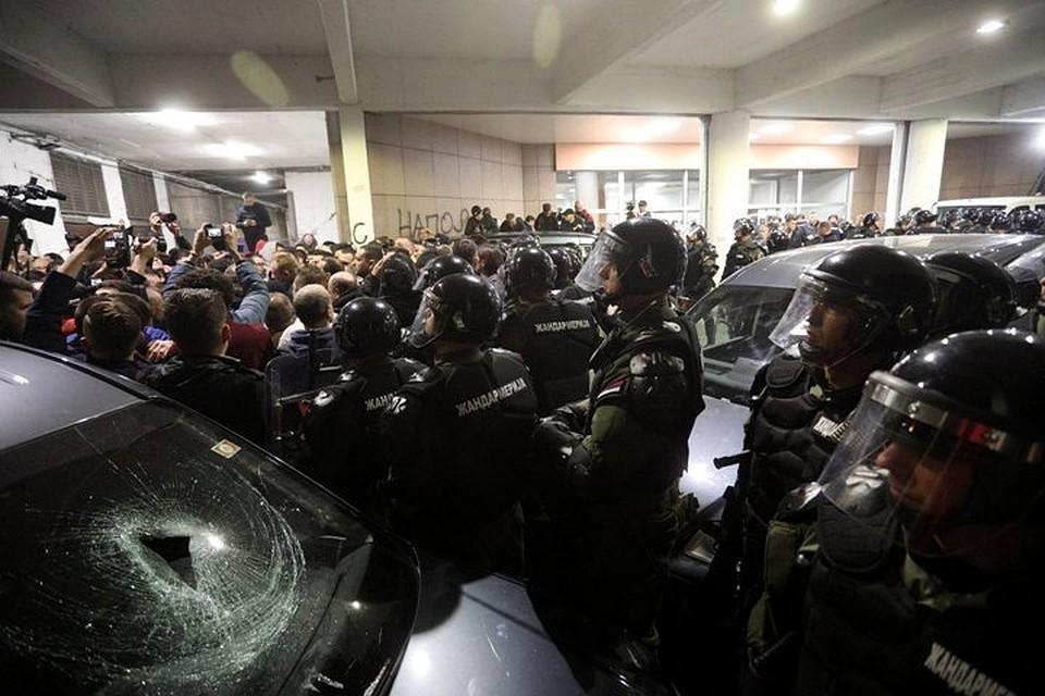Акция протеста в столице Сербии переросла в массовые беспорядки