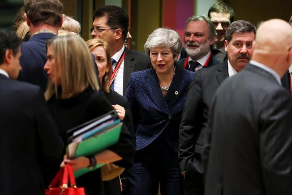 Британский премьер Тереза Мэй на саммите лидеров ЕС в Брюсселе