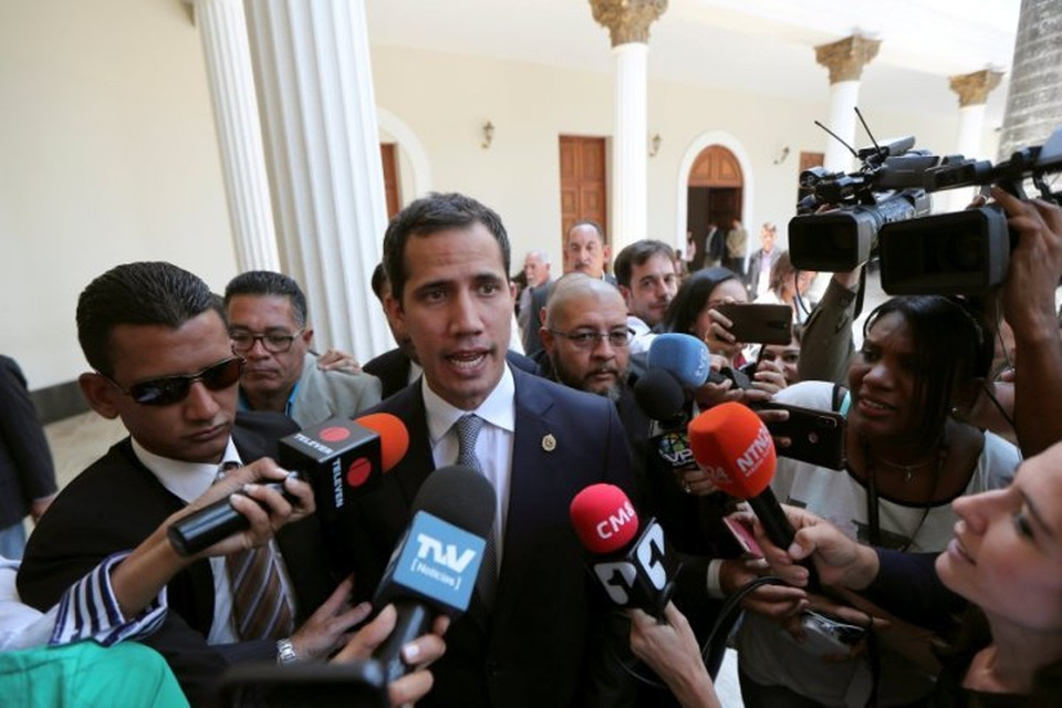 Хуан Гуаидо, провозгласивший себя «временным президентом» Венесуэлы