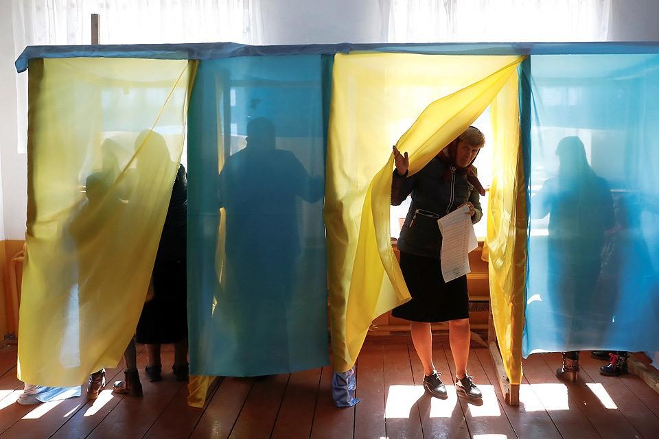 Работа участка для голосования в Ивано-Франковской области Украины, 31 марта 2019 г.