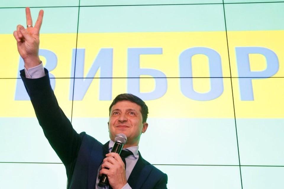 Лидер первого тура президентских выборов на Украине Владимир Зеленский