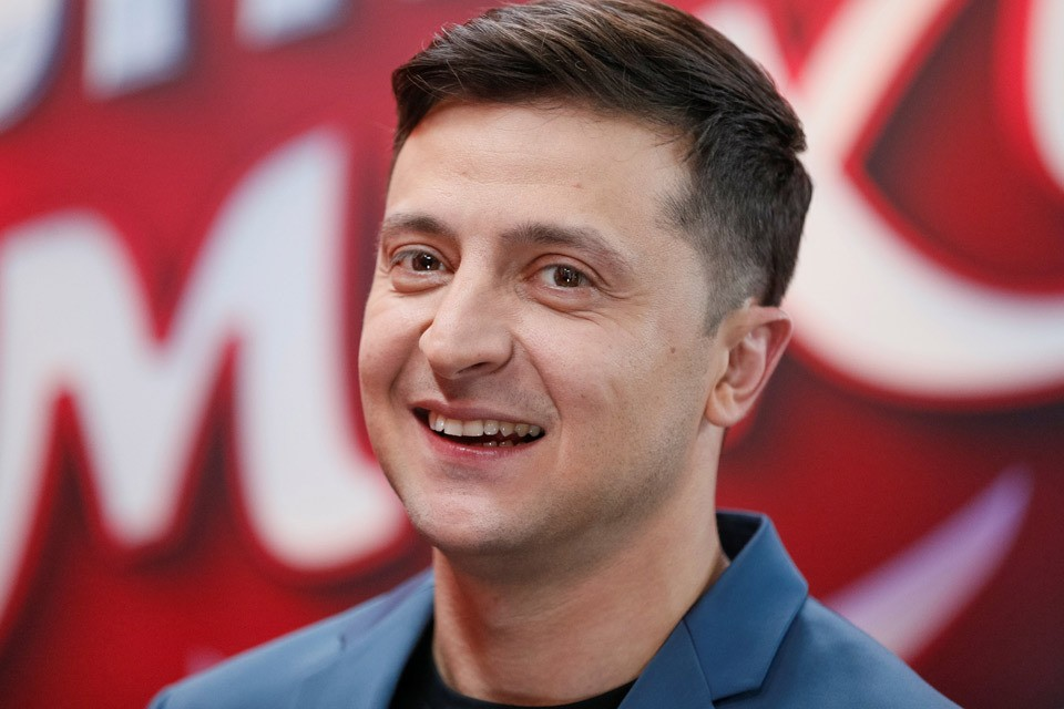 Кандидат на пост президента Украины от партии «Слуга народа» Владимир Зеленский