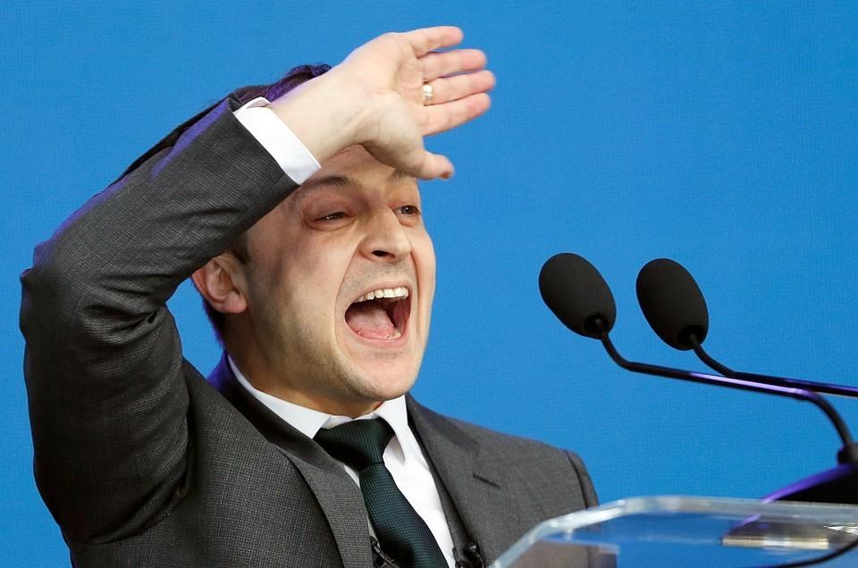 Победитель президентских выборов на Украине Владимир Зеленский