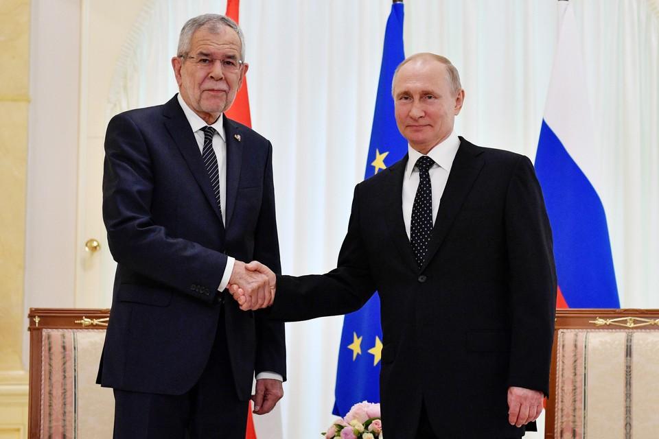 Президент РФ Владимир Путин и президент Австрии Александер Ван дер Беллен