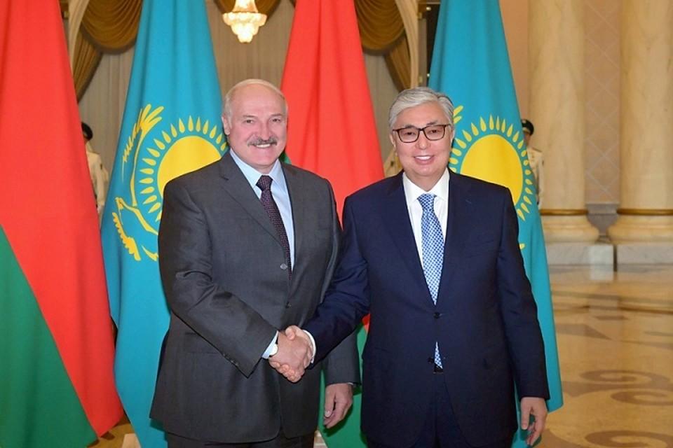 Президент Беларуси Александр Лукашенко и президент Казахстана Касым-Жомарт Токаев. Фото: belta.by.