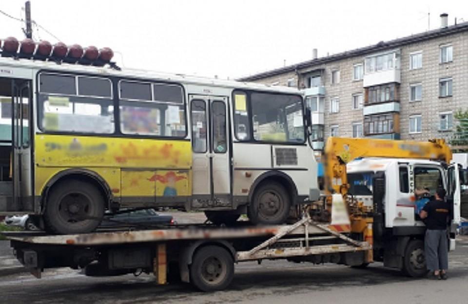 Маршрутку без тормозов сняли с рейса в Томске