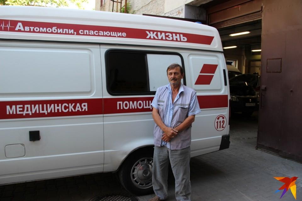 Водитель скорой помощи чудом не пострадал
