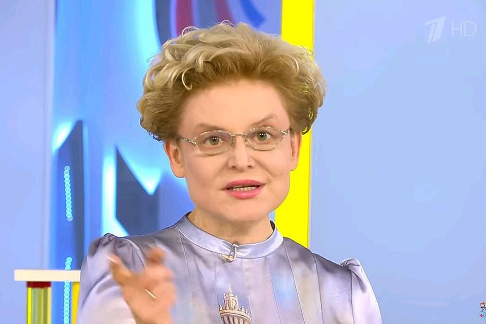 """Елена Малышева в передаче """"Жить здорово"""""""