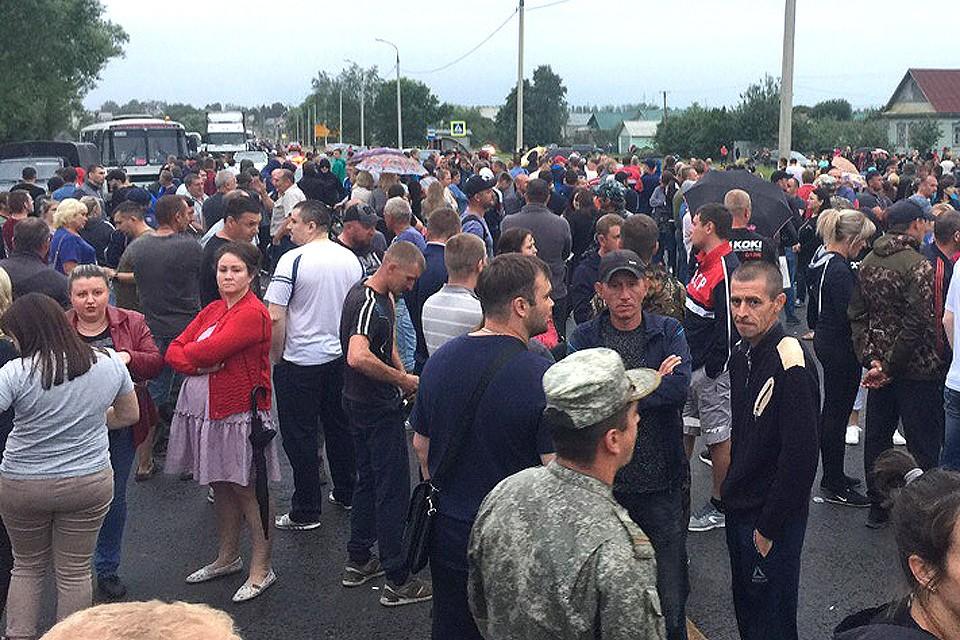 Жители Чемодановки перекрыли трассу М-5.