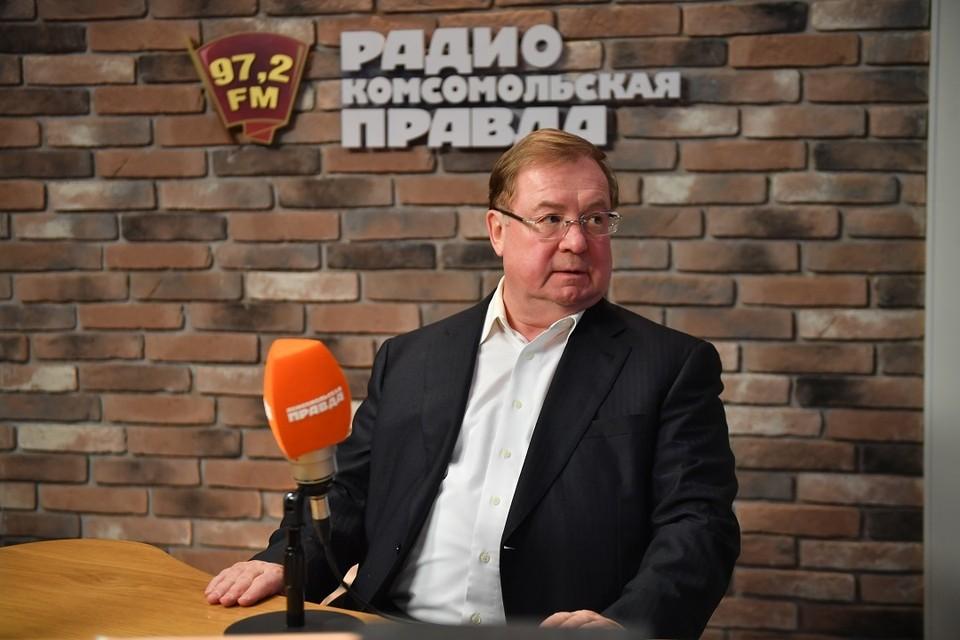 """Сергей Степашин в студии Радио """"Комсомольская правда"""""""