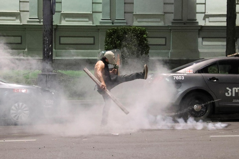 "В Тбилиси напали на съемочную группу телеканала ""Россия 24"