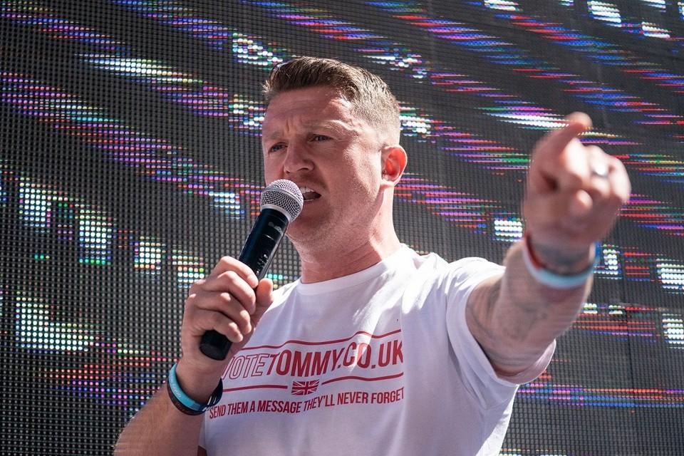 Британский политик Томми Робинсон - советник главы Партии независимости Соединённого Королевства UKIP